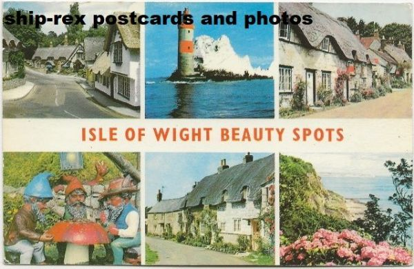 Isle Of Wight Beauty Spots, postcard (a2)